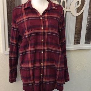 Dark Ted Plaid Long Sleeve Shirt